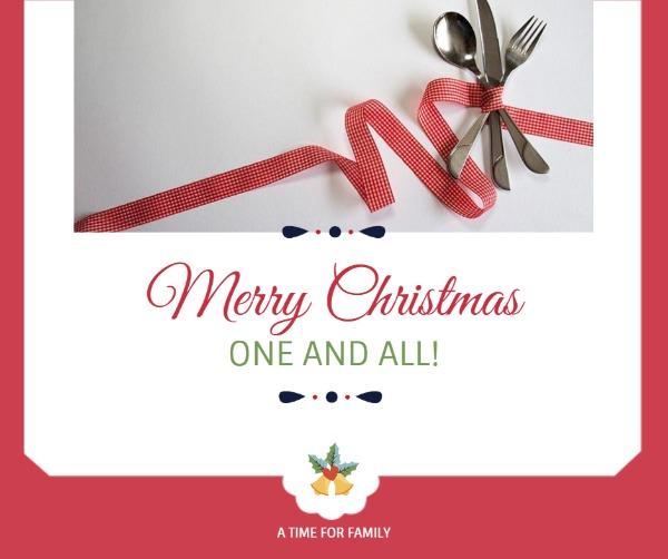 白色圣诞节主题贺卡