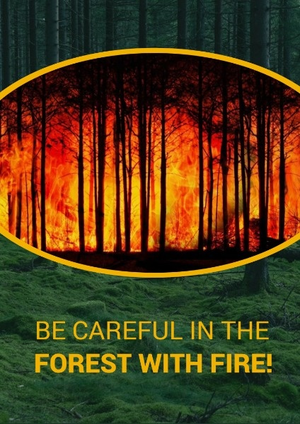 Be Careful In Forest With Fire