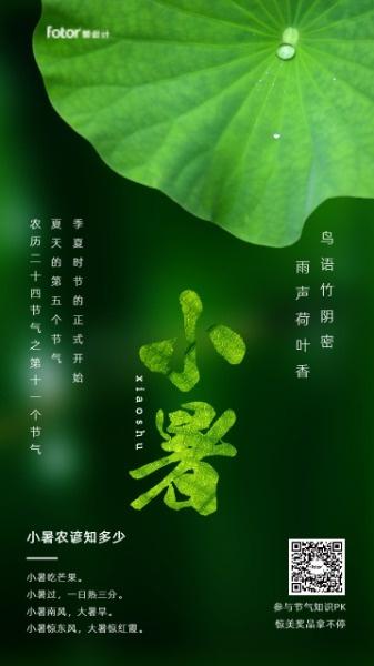 传统文化24节气绿色小暑