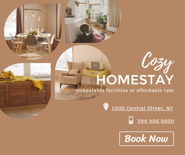 Brown Background Of Collage Homestay