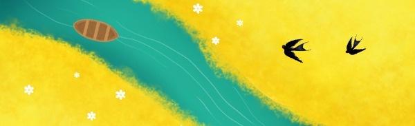 春分田园大自然插画