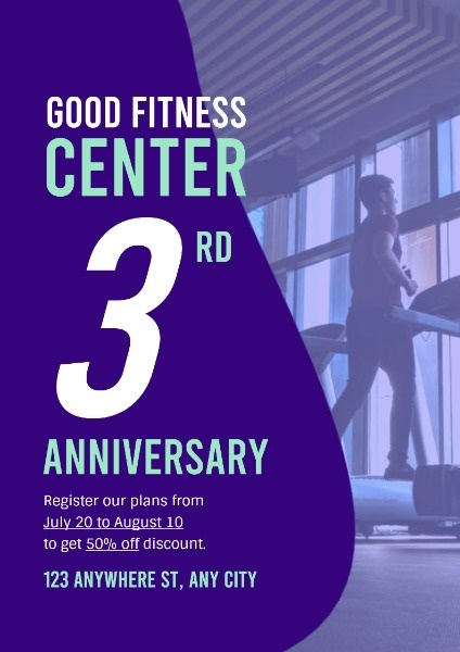 Purple Fitness Center Anniversary