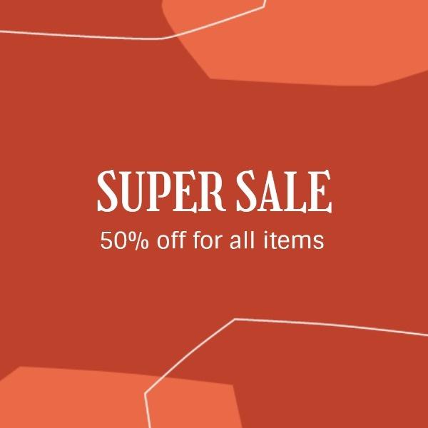 Red Super Sale