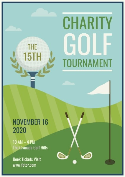 高尔夫比赛海报charitygolftournament