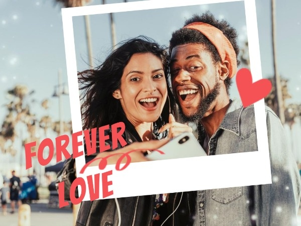 Loving Couple Polaroid Photo