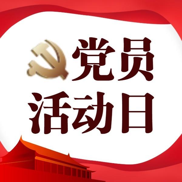 党员活动日党政宣传红色