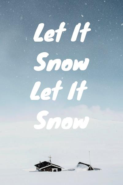 蓝色浪漫雪景主题海报
