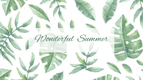 绿色夏日主题封面