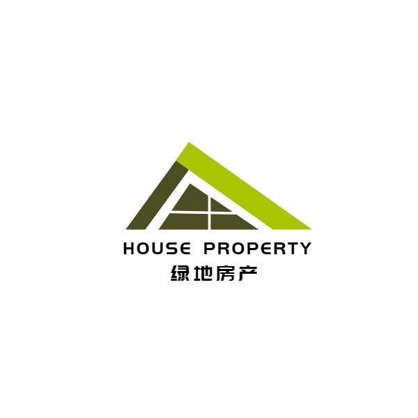 绿地房产商业商务物业简约几何拼图