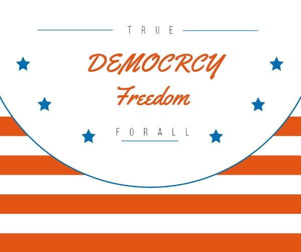 美国国旗元素主题海报