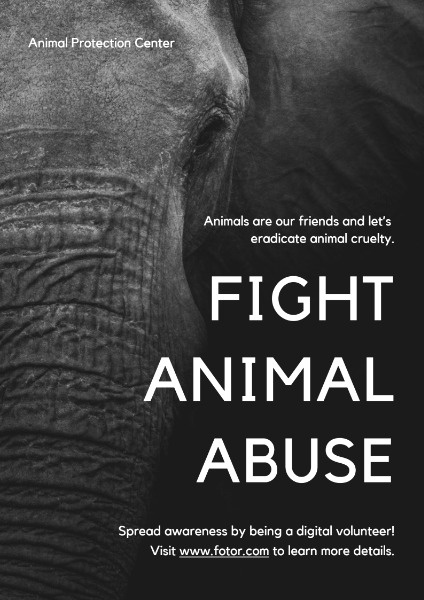 Black And White Animal Abuse Fight