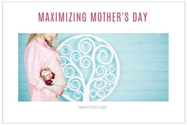 在母亲节为妈妈送上鲜花