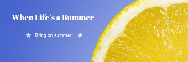 藍色夏季主題封面