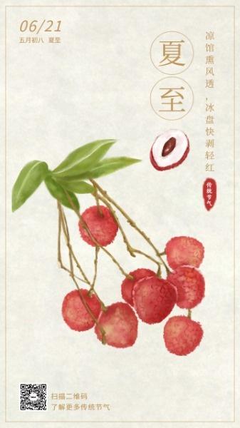 传统文化24节气荔枝