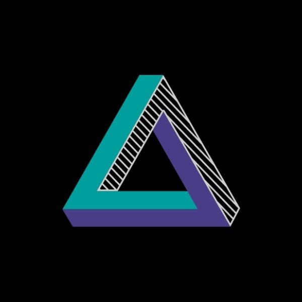 黑色几何3D商店图标