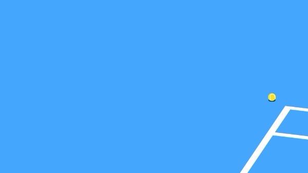 蓝色网球场