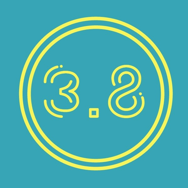 蓝黄色3.8女神节矢量图