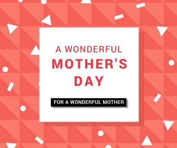 粉色拼接母亲节主题海报