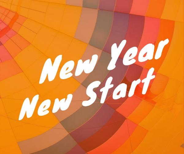 橙色简约新年贺卡