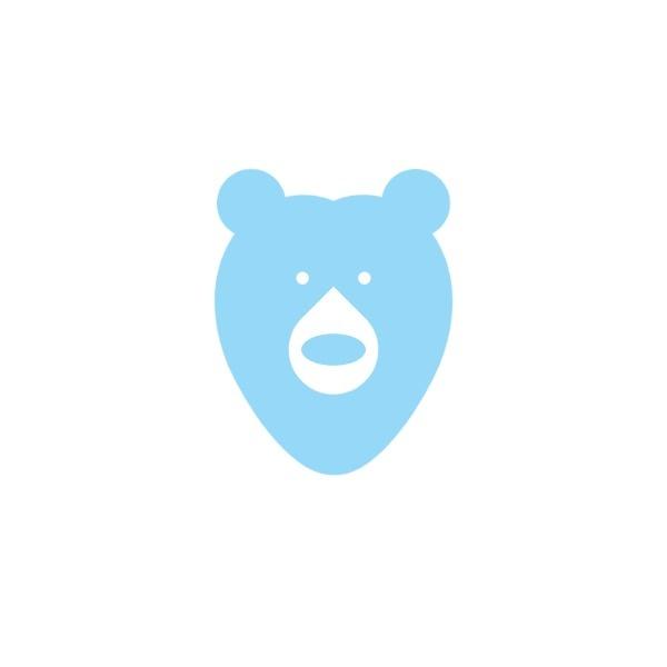 白色可爱熊商店图标