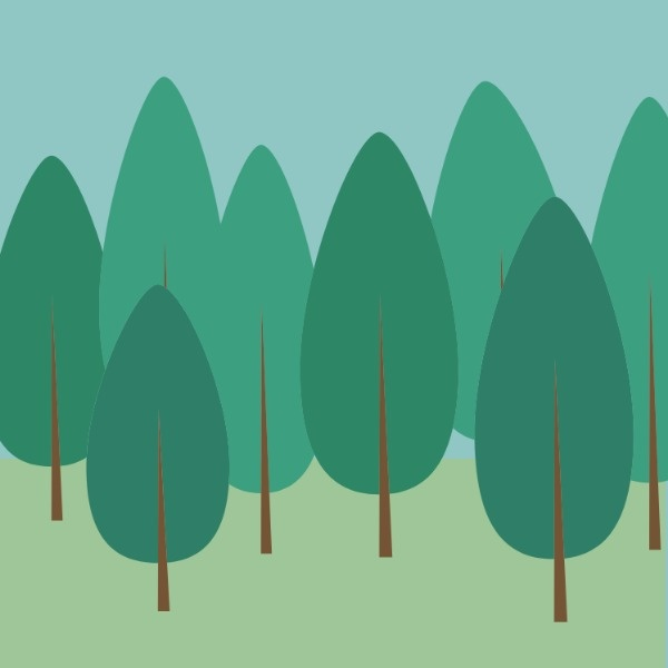 绿色森林植树节矢量图