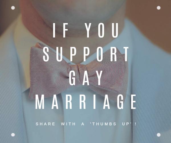 白色同性婚姻主题海报