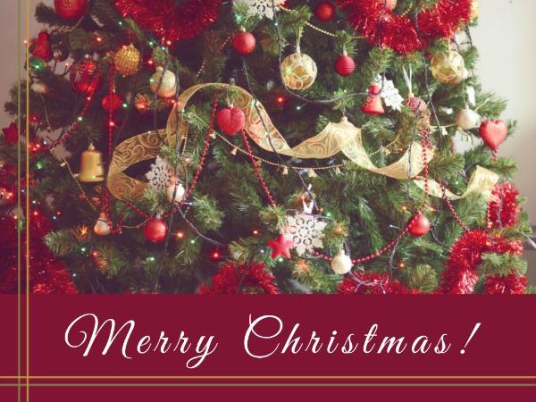 圣诞节快乐祝福圣诞树欢乐卡通