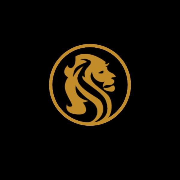 黑色简约狮子商店图标
