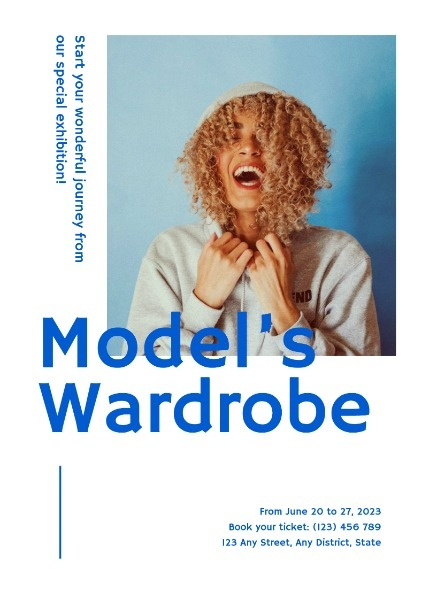 White Model's Wardrobe Fashion Poster