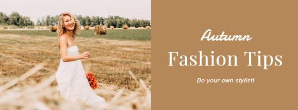 橙色秋季时尚主题海报