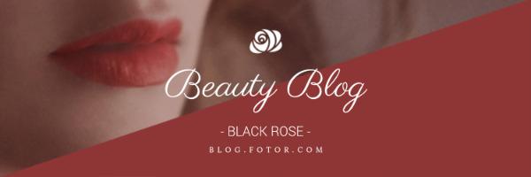 红色美妆主题封面