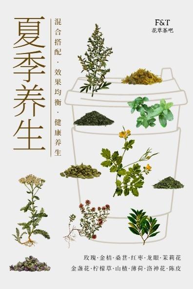 夏季养生凉茶草本