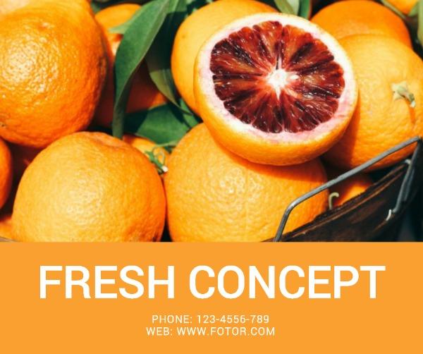 橙色橘子主题海报