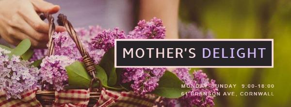 紫色母亲节主题封面