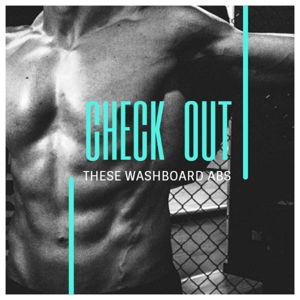 灰色健身肌肉主题海报