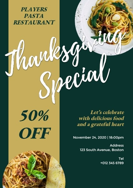 Thanksgiving Special Offer