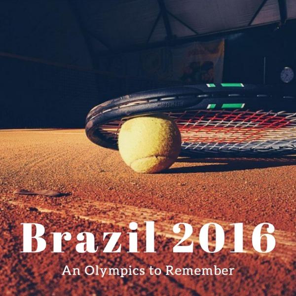褐色网球球拍主题海报