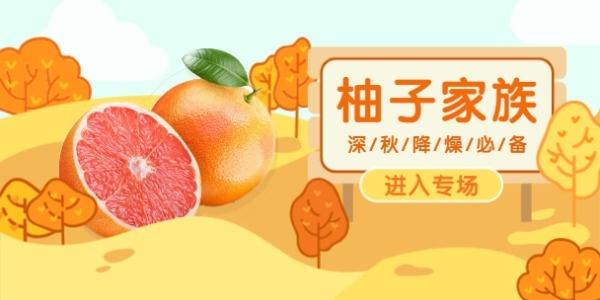 秋季水果柚子