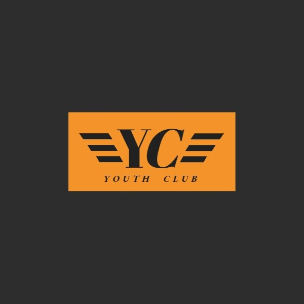 汽车越野俱乐部简约黑色橙黄色