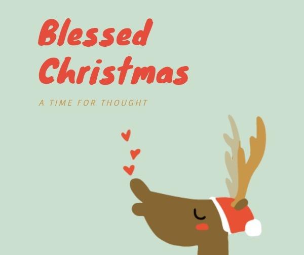 黑色浪漫圣诞节贺卡