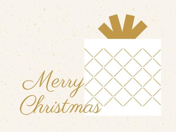 圣诞节平安夜礼物小清新简约金色
