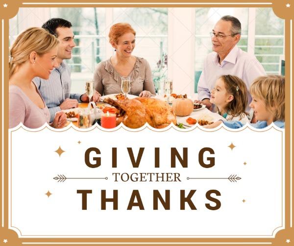 橙色感恩节主体海报