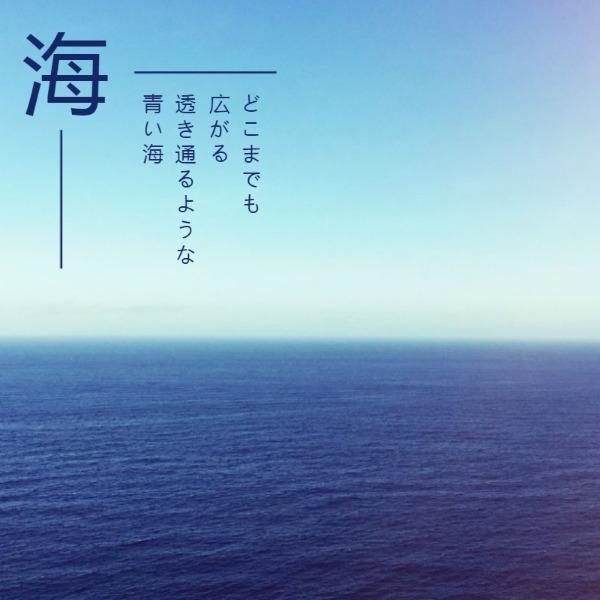 蓝色简约大海帖子