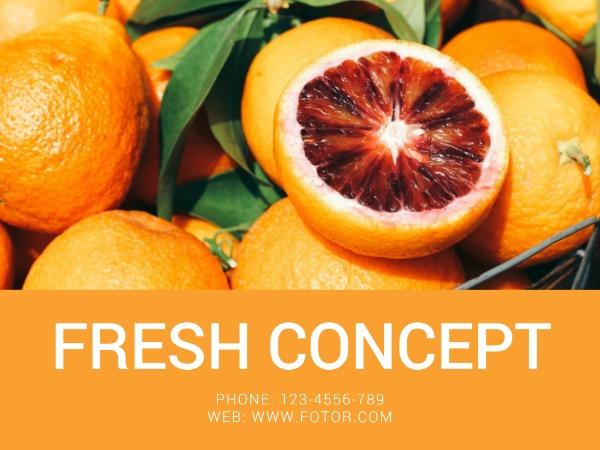 新观念灵感橙子简约