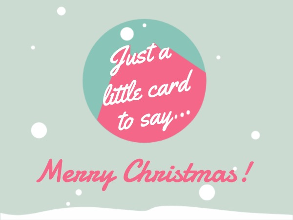 圣诞节快乐祝福欢乐粉绿色简约