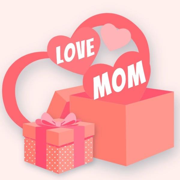 母亲节礼物公众号封面小图模板