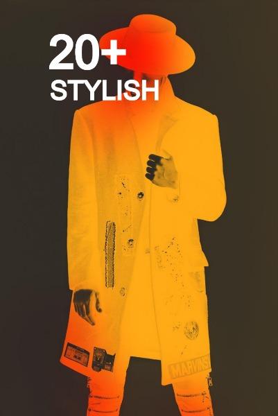 黄色时尚服装主题海报