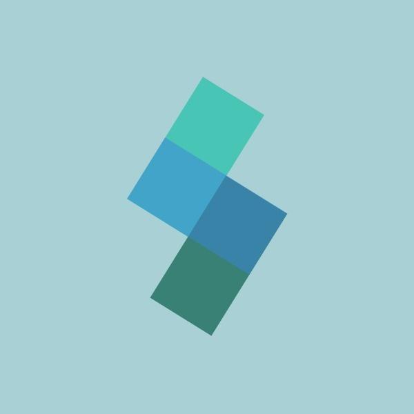 绿色几何商店图标