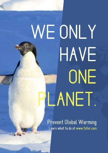 Blue Penguin Prevent Global Warming