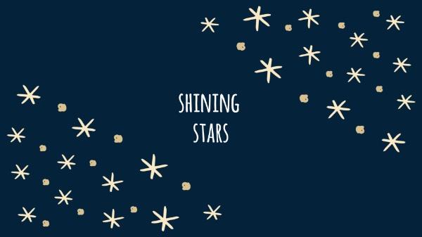 蓝色星空星星
